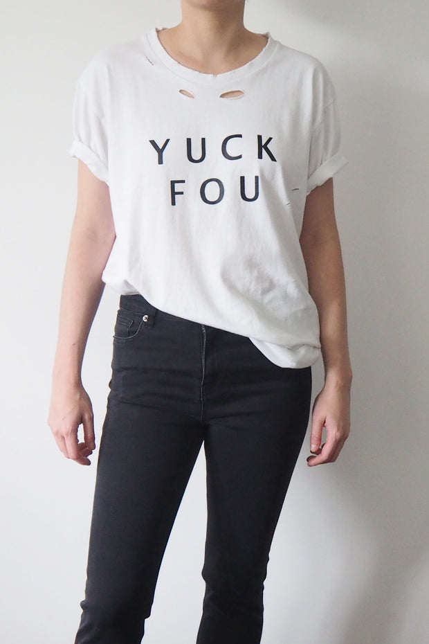 *New Item* Yuck Fou White T-shirt