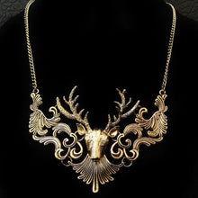 Huge Deer Head Necklace