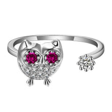 Jeweled Owl Ring