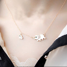 Elephant and Baby Necklace