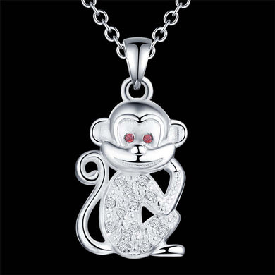 Jeweled Monkey Necklace