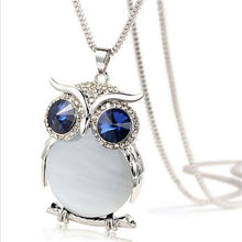Blue Owl Necklace