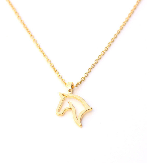 Horse pendant silver rose gold horse necklace jewelry horse horse pendant horse pendant mozeypictures Gallery