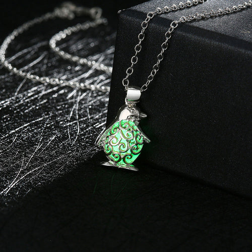 Glow in the Dark Penguin Necklace