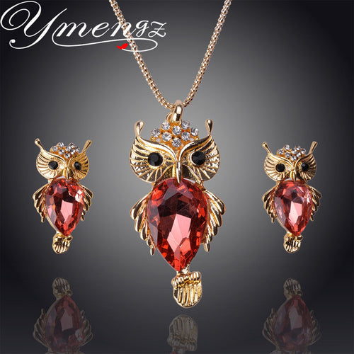 Crystal Owl Jewelry Set