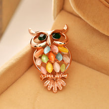Gold Owl Brooches