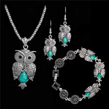 Stone Owl Jewelry Set