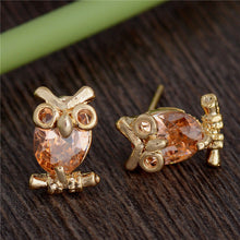 Owl Earrings Gold