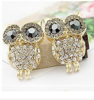 Owl Gold Earrings