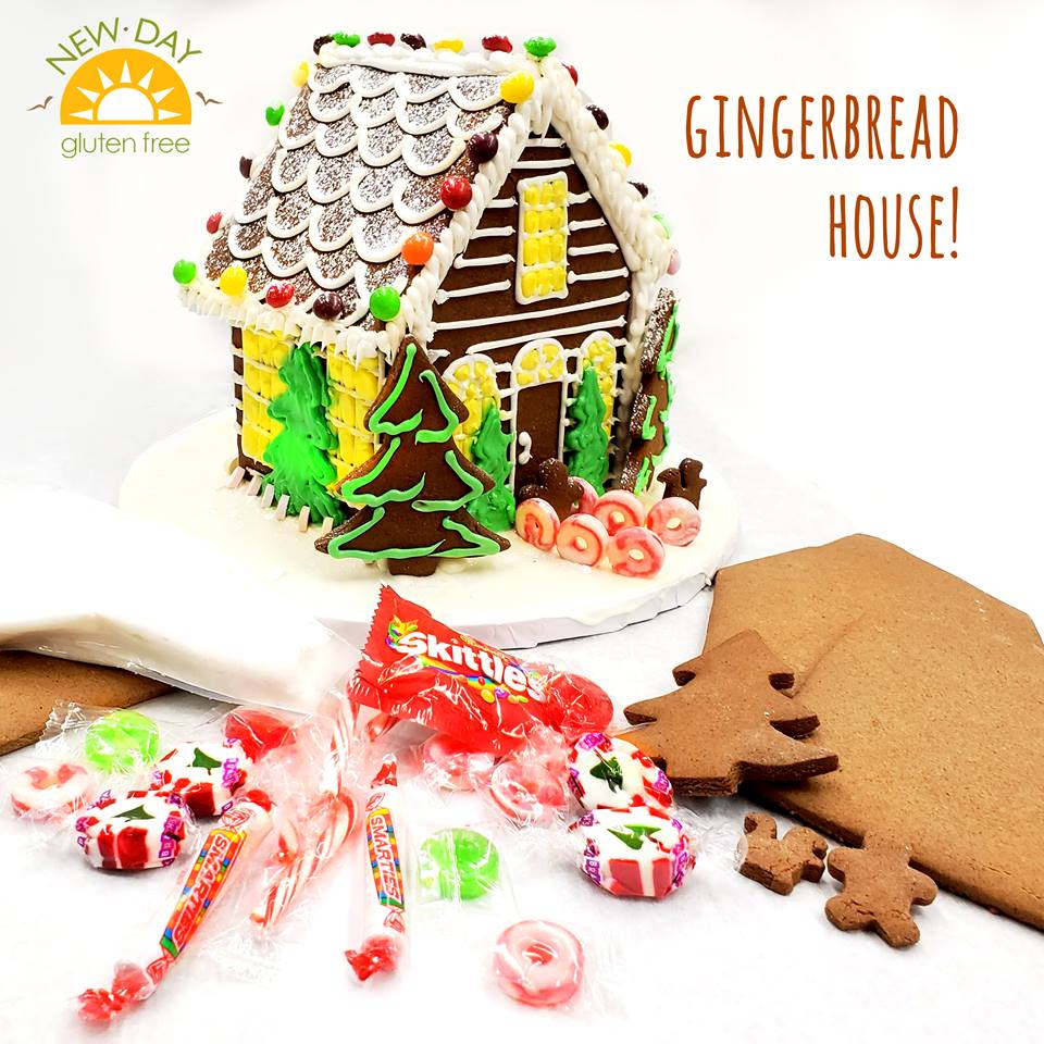 Gluten-Free, Peanut-Free Holiday Gingerbread House (Basic)