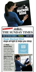 Sunday Times Travel Section recommends Magic Blackout Blind