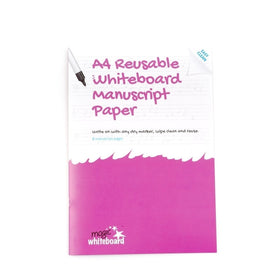 A4 Reusable Whiteboard Manuscript Notebook