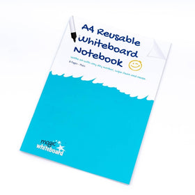 A4 Plain Reusable Whiteboard Notebook ™ 8 pages