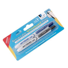 Magic Whiteboard Clicky Pens 1mm - 2 pack