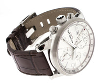 Montblanc Timewalker Silver Dial Brown Leather Chronograph Men's Watch 107065