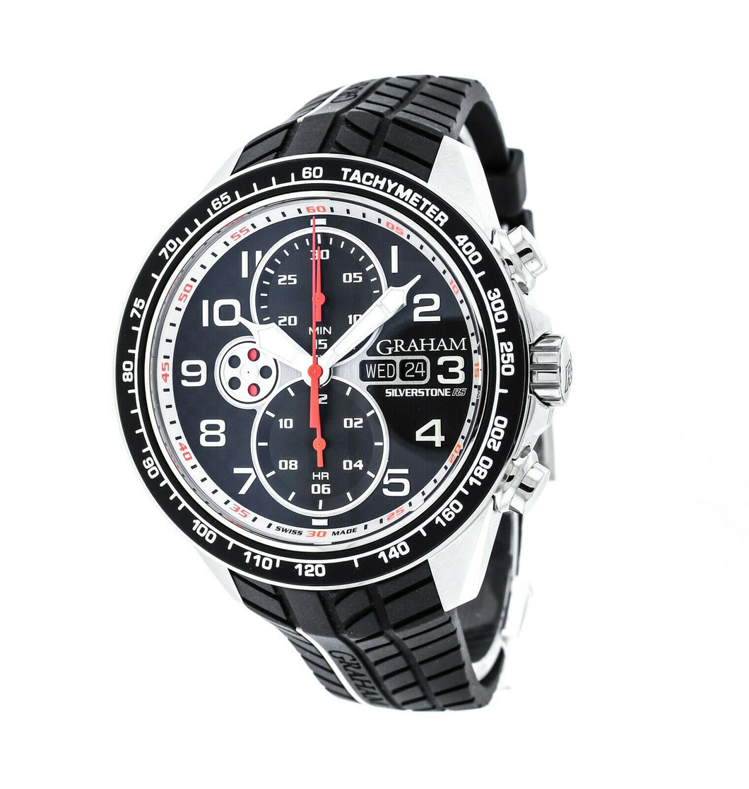 Graham Silverstone RS Racing Chronograph Men's 46mm Automatic Watch - 2STEA.B12A