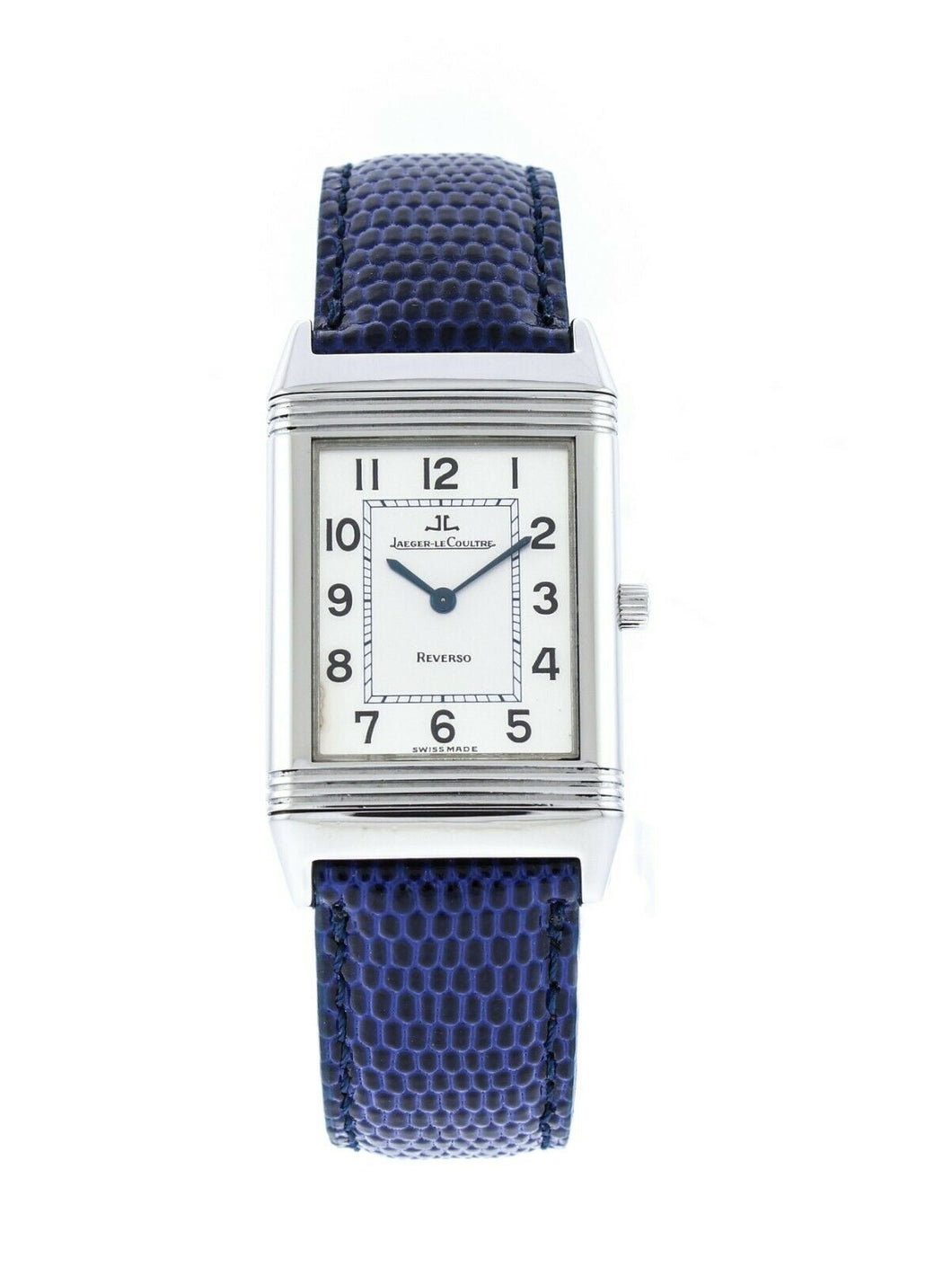 Jaeger LeCoultre Reverso Quartz Blue Leather Strap Watch Q2518420