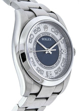 Rolex Oyster Perpetual 36 mm Silver/Blue Concentric Dial Automatic Men's Watch