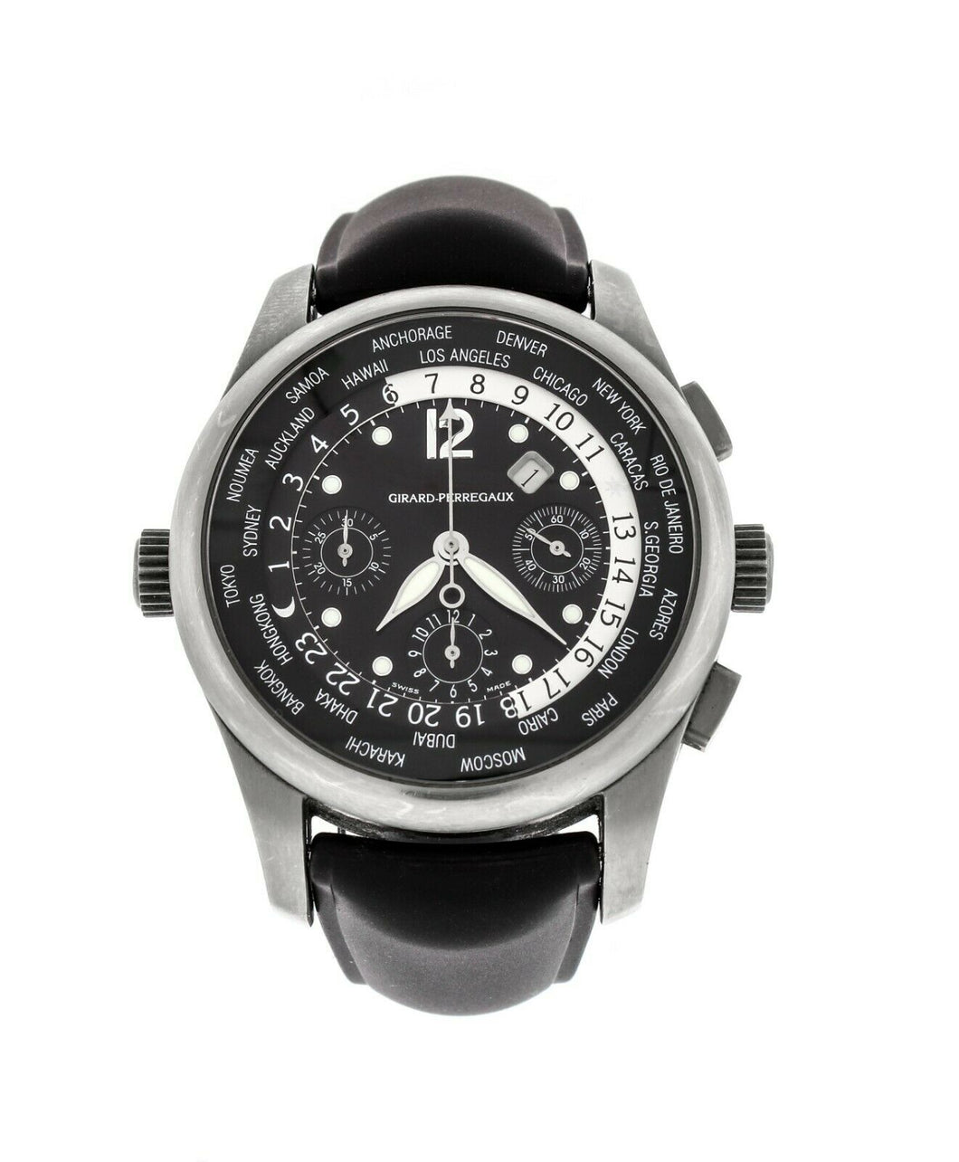 Girard Perregaux World Timer WW.TC 43mm Chronograph Men's Automatic Watch 49805