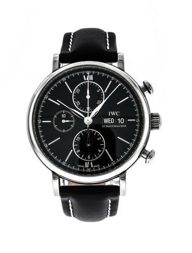 IWC Portofino Automatic Chronograph Black Dial Men's 42mm Watch IW391008