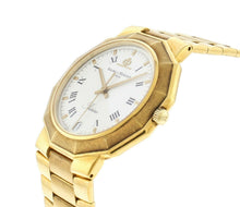 Baume & Mercier 18k Yellow Gold White Dial 34mm Bracelet Quartz Watch MOA03182