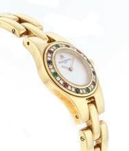 Baume Mercier Linea 18K Yellow Gold Diamond Bezel 22mm Ladies Watch MV045153