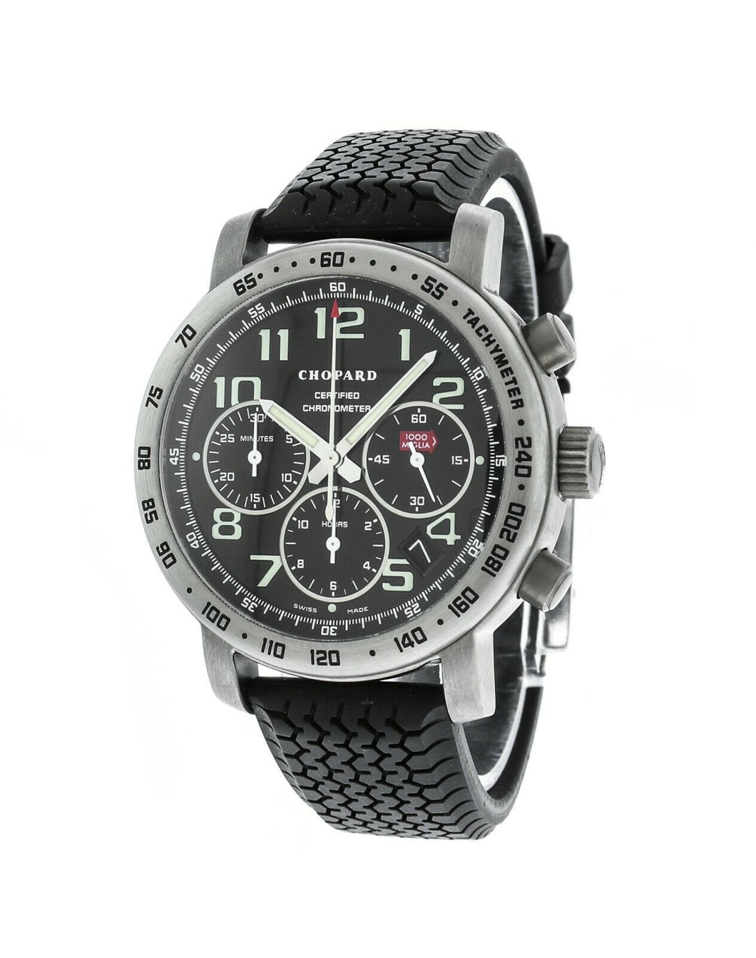 Chopard Mille Miglia Titanium Black Rubber Chronograph Men's Watch 16/8915