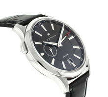 Zenith Captain Dual Time Black Steel Automatic Mens Watch 03.2130.682/22.C493