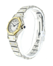 Cartier Santos Octagon Steel 18K Yellow Gold 25mm Automatic Ladies Watch