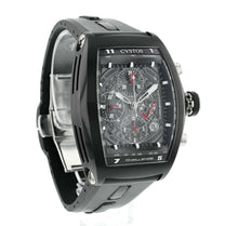 Cvstos Challenger Chronograph Black PVD Men's Tonneau Automatic Skeleton Watch