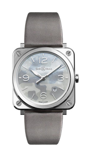 Bell & Ross Aviation Grey Camouflage Mother of Pearl Dial Unisex 39mm Watch