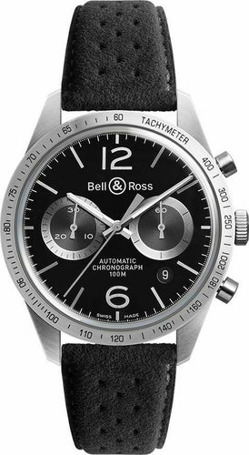 Bell & Ross Vintage Original Automatic Chronograph Men's 42mm Leather Watch