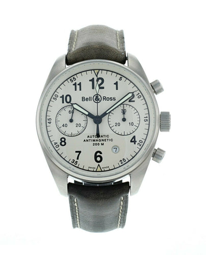 Bell & Ross Vintage 126 Chronograph 40mm Automatic Men's Leather Strap Watch