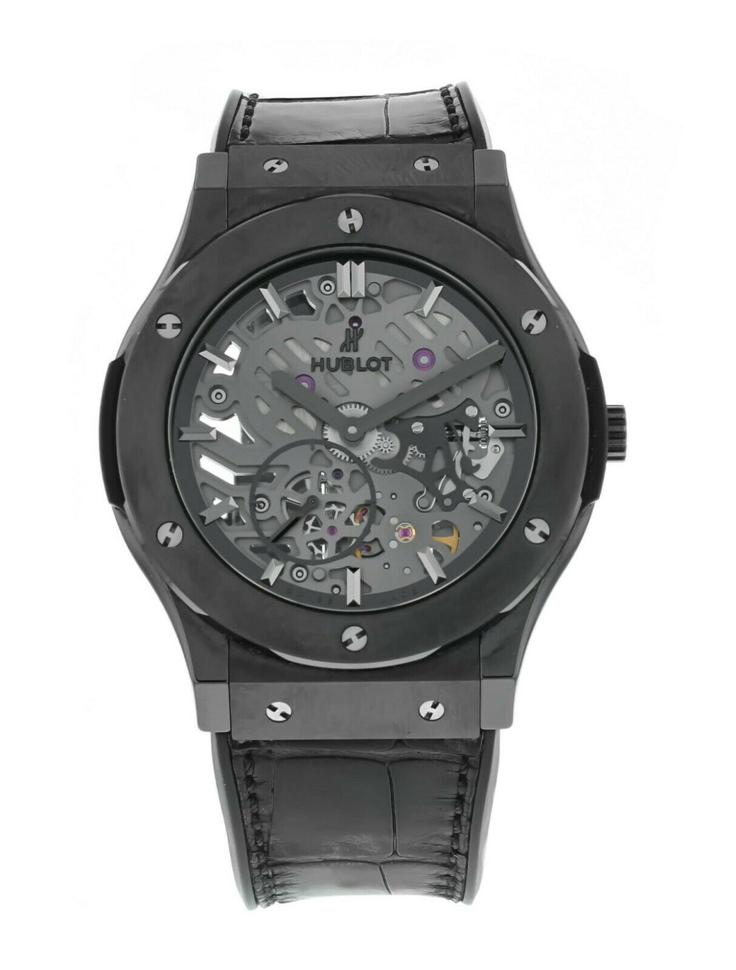 Hublot Classic Fusion Ultra-Thin Hand Wind Skeleton Dial Men's 45mm Watch