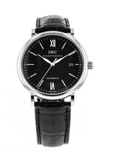 IWC Portofino Automatic Black Dial Black Leather Men's 40mm Watch IW356502