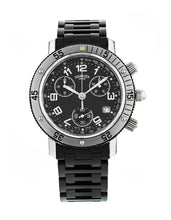 Hermes Clipper Chronograph 40mm Men's Quartz Black Dial Watch CL29153303770