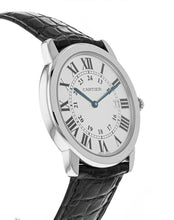 Cartier Ronde Solo Steel Black Leather Midsize 36mm Quartz Watch W6700255