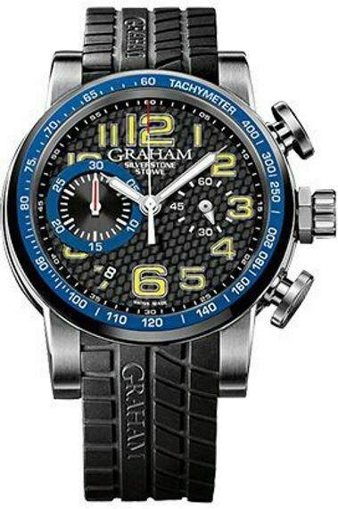 Graham Silverstone Stowe 44mm Automatic Chronograph Watch 2SAAC.B04A.K07S