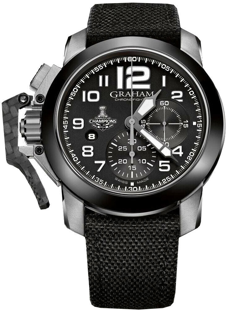 Graham Chronofighter Oversize LA Kings Limited Men's 47mm Watch 2CCAC.B08A.T12