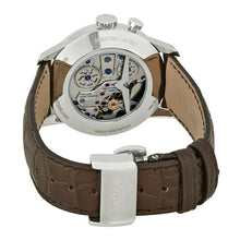Vulcain 50s Presidents Silver Dial Brown Leather Manual Mens 39mm Alarm Watch