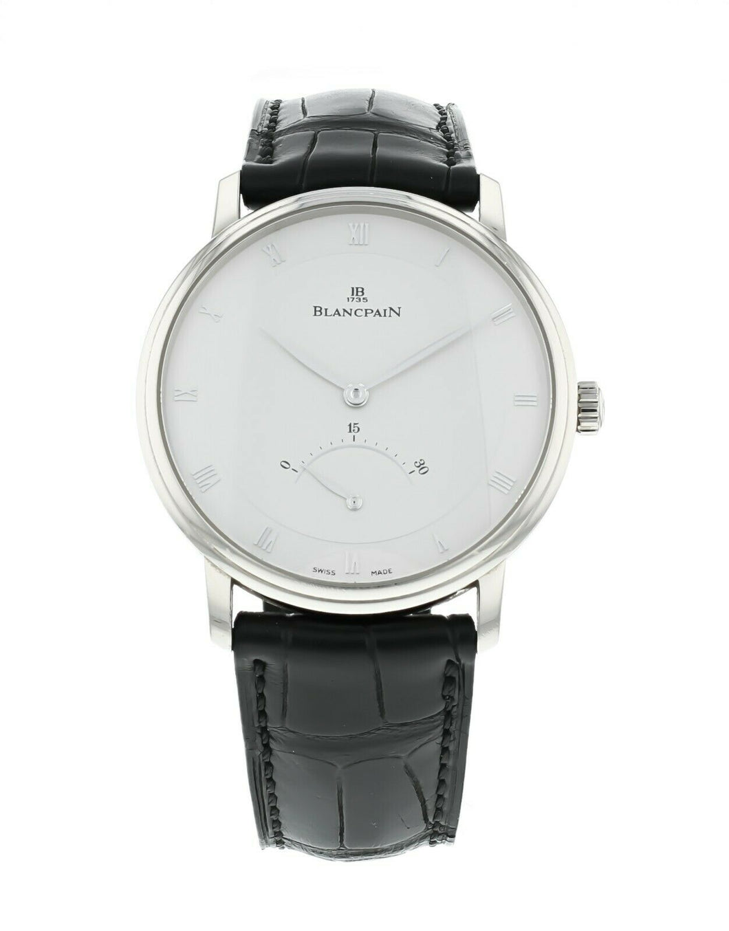 Blancpain Villeret Ultra Slim Retrograde 18k White Gold Automatic 40mm Watch