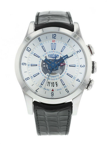 Vulcain Revolution Dual Time Automatic Men's 42mm Alarm Watch 210130.195LF