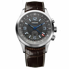 Vulcain Aviator Cricket Dual Time Manual Alarm Men's 42mm Watch 100133.211LF