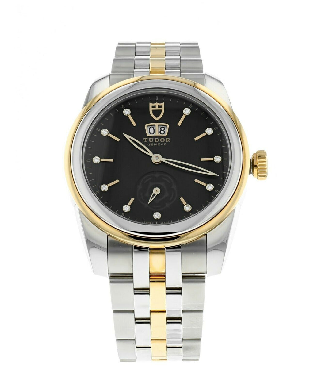 Tudor Glamour Date Men's 42mm Gold & Steel Diamond Automatic Watch M57003