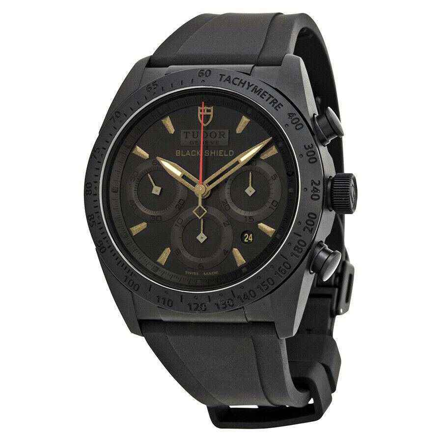 Tudor Blackshield Automatic Chronograph Rubber Strap Men's 42mm Watch 42000CN