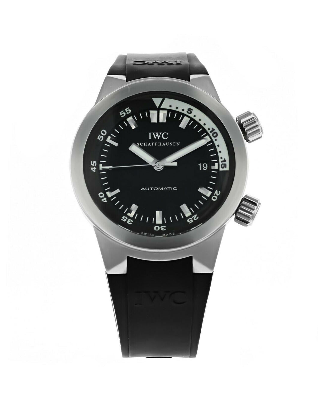 IWC Aquatimer Stainless Steel Automatic 42mm Men's Rubber Strap Watch IW354807