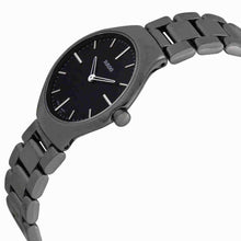 Rado True Thinline Black Dial Platinum-Tone Ceramic Ladies 30mm Watch R27956152