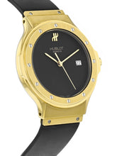 Hublot Classic 36mm Quartz 18K Yellow Gold Rubber Strap Watch 1525.100.3