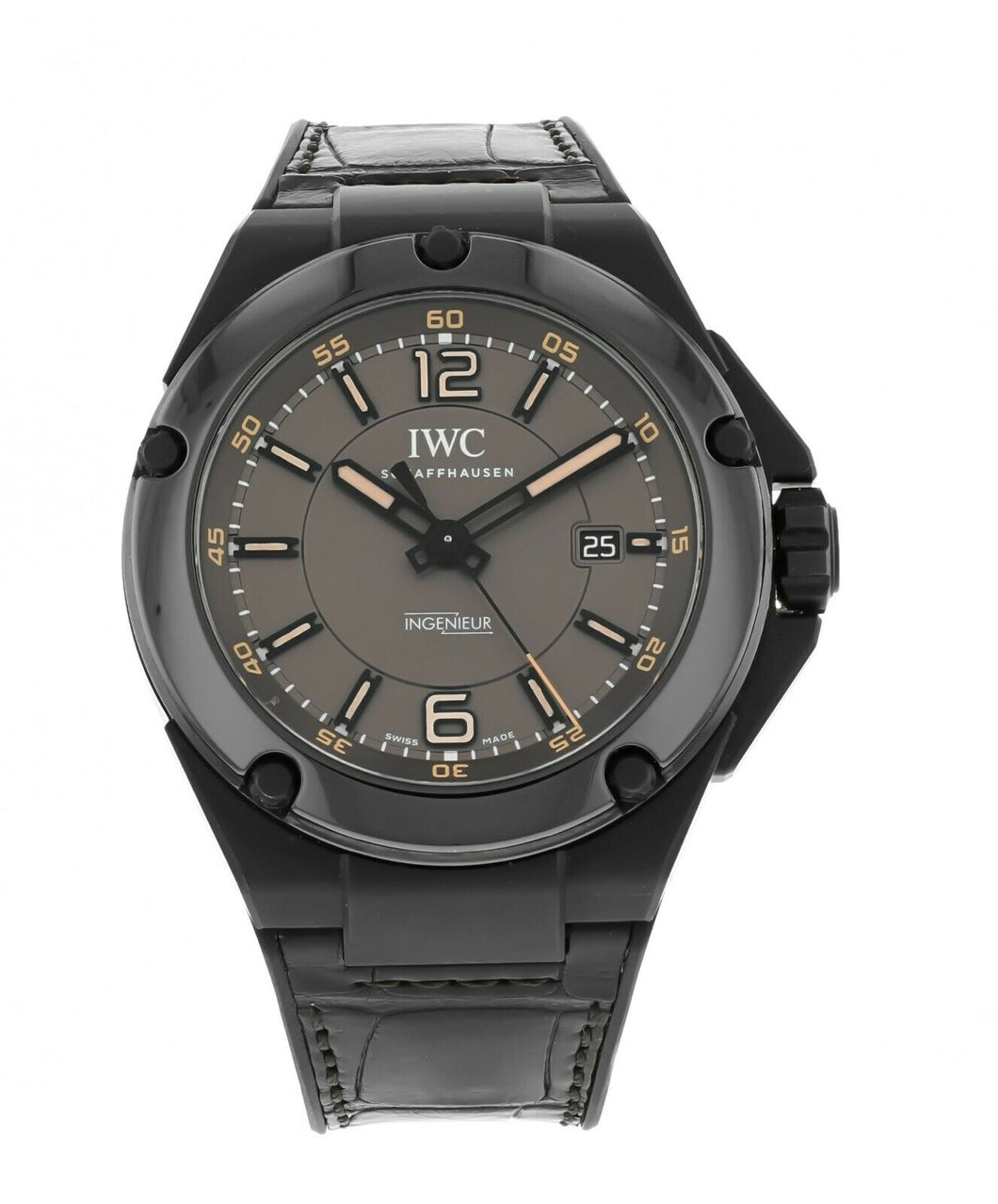 IWC Ingenieur AMG Black Series Auto 46mm Ceramic Mens Strap Watch IW322504