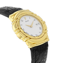 Piaget Dancer 18k Yellow Gold 33mm Quartz Leather Strap Watch GOA16818